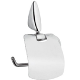 Zip Modern Chrome Toilet Roll Holder with Flap - 01097023